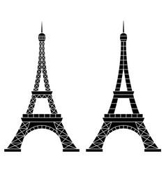 eiffel tower paris vector image vector image