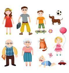 happy family set vector image vector image