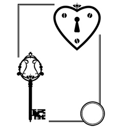 keyhole and old key vector image vector image