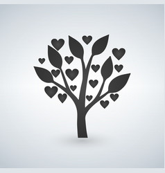 love tree with heart leaves valentines day vector image vector image