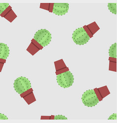seamless pattern of cactus vector image vector image