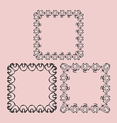 The scope of the monograms for photos vector image