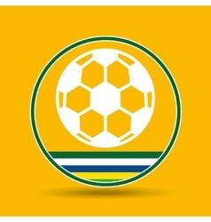 football sport badge icon vector image vector image