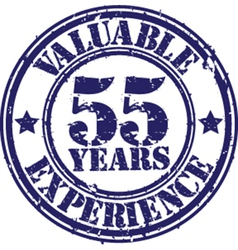 Valuable 55 years of experience rubber stamp vect vector image vector image
