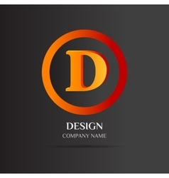D Letter logo abstract design vector image