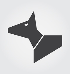 dog in symbol style vector image