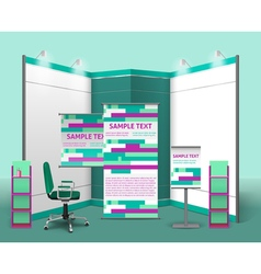 Exhibition Stand Design Template vector image
