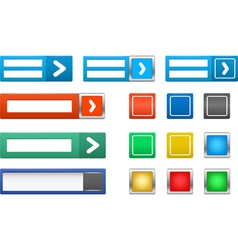 set of log in button vector image