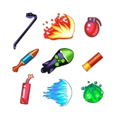 Weapon and Bomb Icons Set vector image