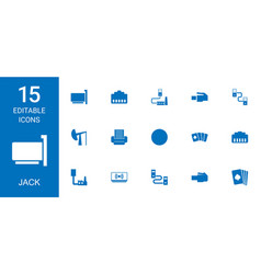 15 jack icons vector