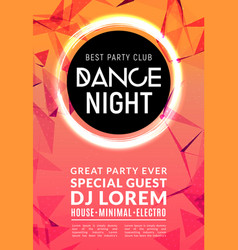 abstract disco dance night party poster brochure vector image