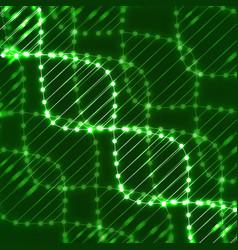 Abstract spiral of dna neon molecular chain vector