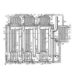 Air compressor vintage vector