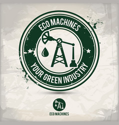 alternative eco machine stamp vector image