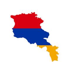 Armenia flag and map vector