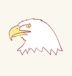 bald american usa eagle mascot hand drawn style vector image
