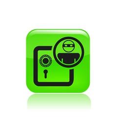 bank thief icon vector image