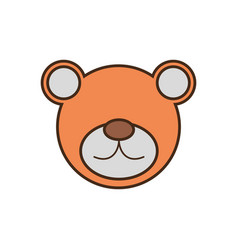 bear face cartoon animal vector image