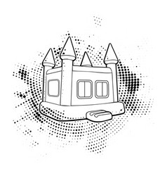 Black home and horror house vector