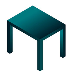 black table icon isometric style vector image