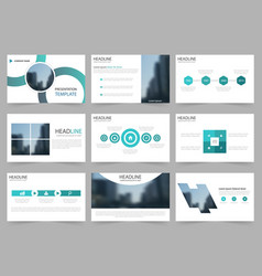 Blue circle abstract presentation templates vector