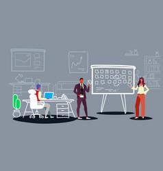 Business people scheduling work agenda schedule vector