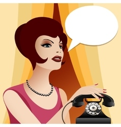 calling woman vector image