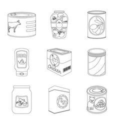 Can and food logo vector