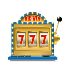 casino jackpot slot machine one lever armed vector image