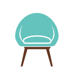chair icon isolated on white vector image vector image
