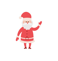 christmas santa claus character in red costume vector image