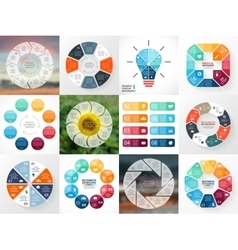 Circle arrows infographics set Template for cycle vector image