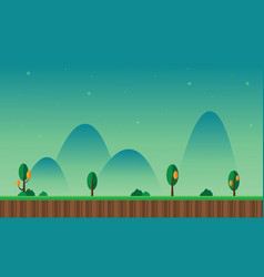 Collection scenery with green background vector