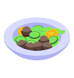 Cucumber falafel icon isometric style vector