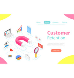 Customer retention strategy flat isometric vector