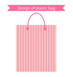 design plastic package vector image