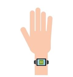 digital hand clock vector image
