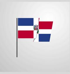 Dominican republic waving flag design background vector