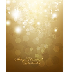 Elegant Gold Christmas Background vector