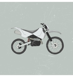Enduro bike motocross vector image
