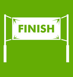 finish line gates icon green vector image