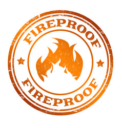 fireproof sign or stamp vector image