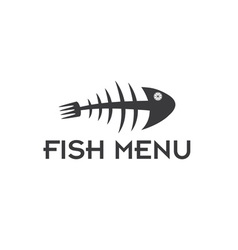 fish menu design template vector image