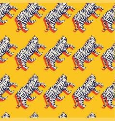 flat seamless tiger vector image