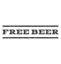 Free Beer Watermark Stamp vector
