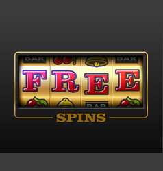 Free spins bouns slot machine games banner vector