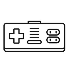 game joystick icon outline style vector image