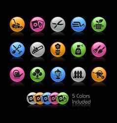 Gardening icon set - gelcolor series vector