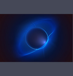 glowing circles from dots with depth field vector image
