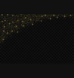 gold glitter confetti pattern vector image